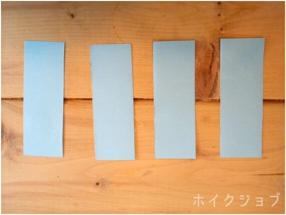 七夕の短冊リース 製作工程